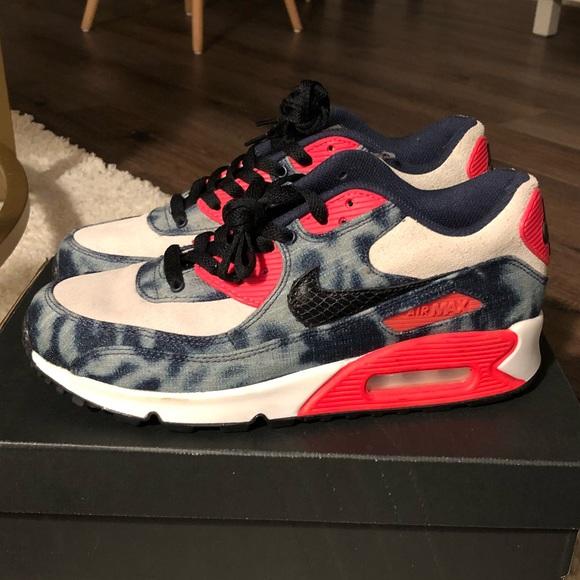 Nike Shoes Air Max 90 Dnm Qs Infrared Washed Denim Poshmark